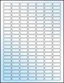 """Sheet of 1"""" x 0.375"""" White Gloss Inkjet labels"""