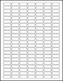 "Sheet of 1"" x 0.375"" Removable White Matte labels"