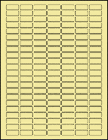 "Sheet of 1"" x 0.375"" Pastel Yellow labels"