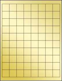 """Sheet of 1"""" x 1"""" Gold Foil Inkjet labels"""