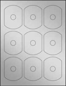 Sheet of Business Card CD Weatherproof Silver Polyester Laser labels
