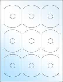 Sheet of Business Card CD White Gloss Inkjet labels