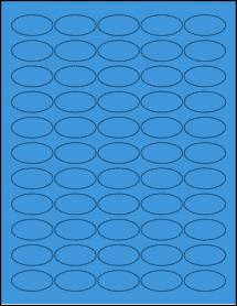 """Sheet of 1.5"""" x 0.75"""" Oval True Blue labels"""