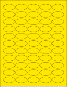 """Sheet of 1.5"""" x 0.75"""" Oval True Yellow labels"""