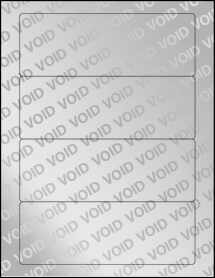 """Sheet of 7"""" x 2.5"""" Void Silver Polyester labels"""