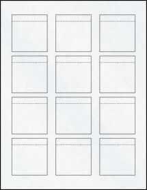 """Sheet of 2.0625"""" x 2.15"""" Clear Matte Inkjet labels"""