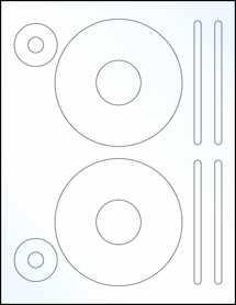 "Sheet of 4.62"" CD Clear Gloss Inkjet labels"