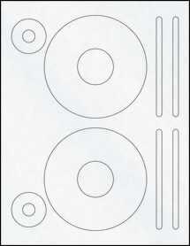 """Sheet of 4.62"""" CD Clear Matte Laser labels"""