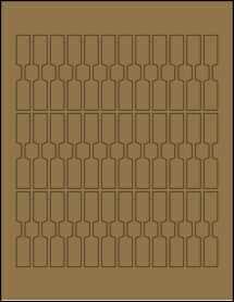 """Sheet of 0.5"""" x 2.75"""" Brown Kraft labels"""