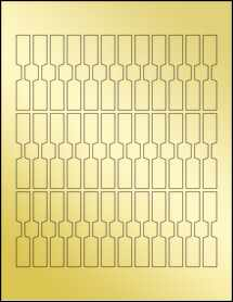 """Sheet of 0.5"""" x 2.75"""" Gold Foil Laser labels"""