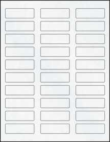 "Sheet of 2.25"" x 0.75"" Clear Matte Inkjet labels"