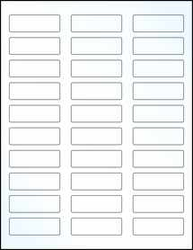"Sheet of 2.25"" x 0.75"" Clear Gloss Inkjet labels"
