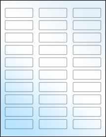 """Sheet of 2.25"""" x 0.75"""" White Gloss Inkjet labels"""