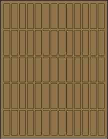 """Sheet of 0.5"""" x 2"""" Brown Kraft labels"""