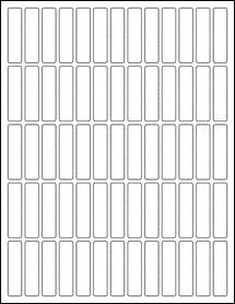 "Sheet of 0.5"" x 2"" Blockout for Laser labels"