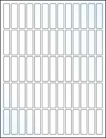 """Sheet of 0.5"""" x 2"""" Clear Gloss Laser labels"""