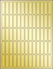 """Sheet of 0.5"""" x 2"""" Gold Foil Laser labels"""
