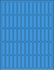 "Sheet of 0.5"" x 2"" True Blue labels"