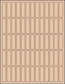"Sheet of 0.5"" x 2"" Light Tan labels"
