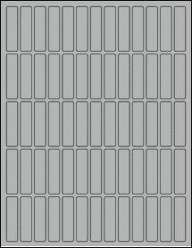 "Sheet of 0.5"" x 2"" True Gray labels"