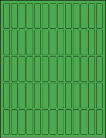 "Sheet of 0.5"" x 2"" True Green labels"