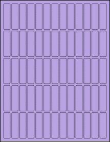 """Sheet of 0.5"""" x 2"""" True Purple labels"""