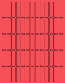 """Sheet of 0.5"""" x 2"""" True Red labels"""