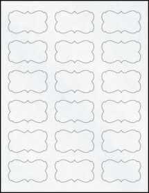 """Sheet of 2.2441"""" x 1.2992"""" Clear Matte Inkjet labels"""