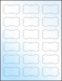 """Sheet of 2.2441"""" x 1.2992"""" White Gloss Inkjet labels"""