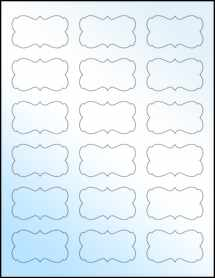 "Sheet of 2.2441"" x 1.2992"" White Gloss Laser labels"