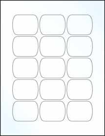 "Sheet of 2.092"" x 1.633"" Clear Gloss Inkjet labels"