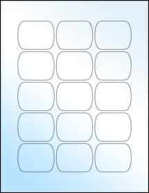 """Sheet of 2.092"""" x 1.633"""" White Gloss Laser labels"""