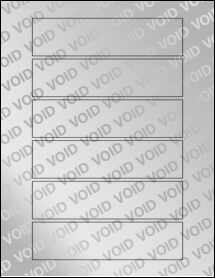"""Sheet of 6"""" x 1.5"""" Void Silver Polyester labels"""