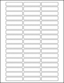 "Sheet of 2.25"" x 0.5"" Weatherproof Polyester Laser labels"