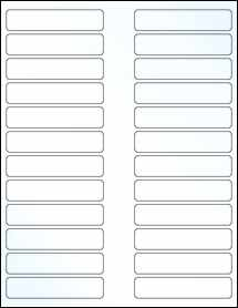 "Sheet of 3.5"" x 0.75"" Clear Gloss Inkjet labels"