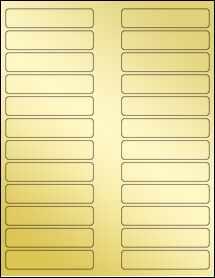 """Sheet of 3.5"""" x 0.75"""" Gold Foil Laser labels"""