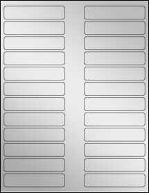 """Sheet of 3.5"""" x 0.75"""" Silver Foil Laser labels"""