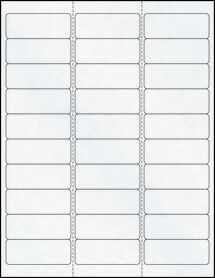 "Sheet of 2.62"" x 1"" Clear Matte Laser labels"