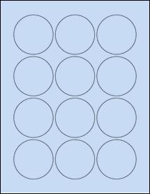 """Sheet of 2.25"""" Circle Pastel Blue labels"""