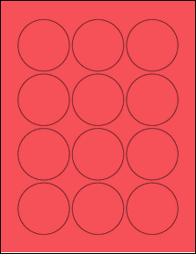 """Sheet of 2.25"""" Circle True Red labels"""
