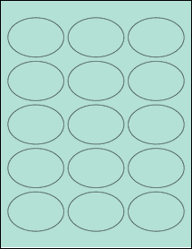 "Sheet of 2.5"" x 1.75"" Oval Pastel Green labels"