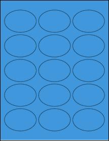 """Sheet of 2.5"""" x 1.75"""" Oval True Blue labels"""