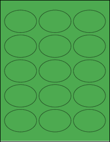 "Sheet of 2.5"" x 1.75"" Oval True Green labels"