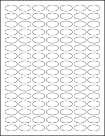 "Sheet of 1"" x 0.5"" Small Oval  labels"