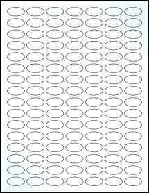 """Sheet of 1"""" x 0.5"""" Small Oval Clear Gloss Inkjet labels"""