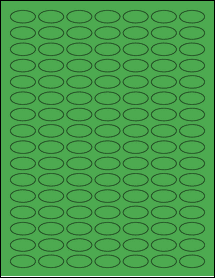 """Sheet of 1"""" x 0.5"""" Small Oval True Green labels"""