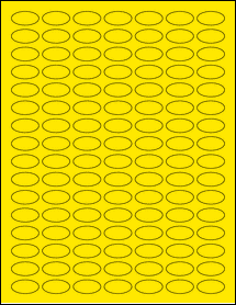 """Sheet of 1"""" x 0.5"""" Small Oval True Yellow labels"""
