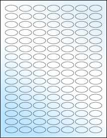 """Sheet of 1"""" x 0.5"""" Small Oval White Gloss Inkjet labels"""