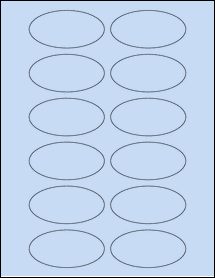 """Sheet of 3"""" x 1.5"""" Oval Pastel Blue labels"""