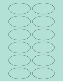 """Sheet of 3"""" x 1.5"""" Oval Pastel Green labels"""
